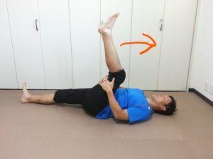 エコノミークラス症候群予防の体操足伸ばし体操