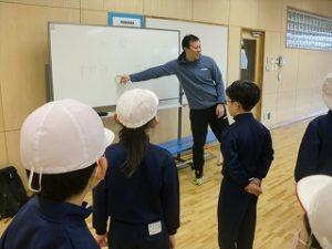 小学校での姿勢と柔軟性と体幹の授業