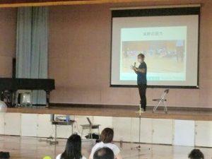 小学校で子供の姿勢の講演会子供の姿勢